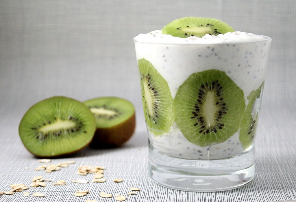 Overnight Oats mit Kiwi