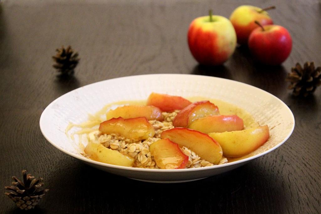 Overnight Oats Apfel Honig-Karamell