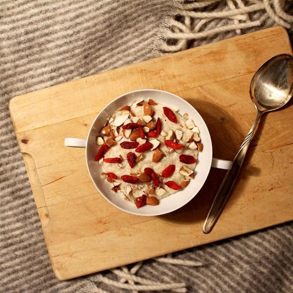 Porridge-Goji-Mandeln