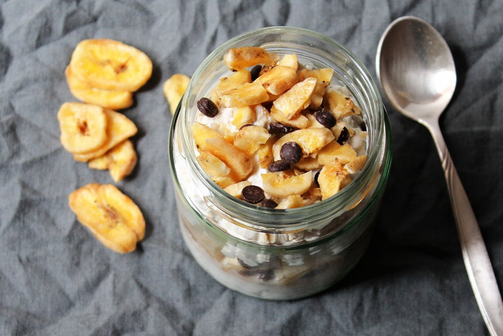Overnight Oats Bananen Schoko-Bananenchips