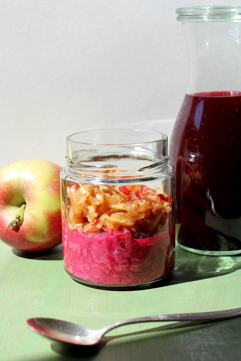 Overnight Oats rote Beete Apfel