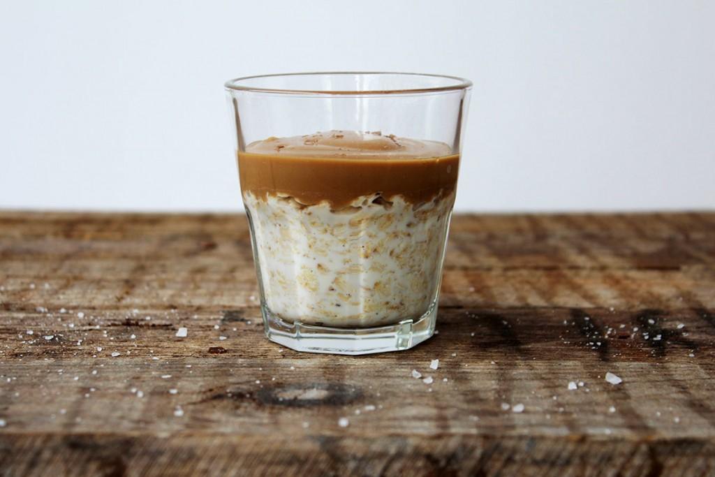 overnight oats Salz Karamell vegan