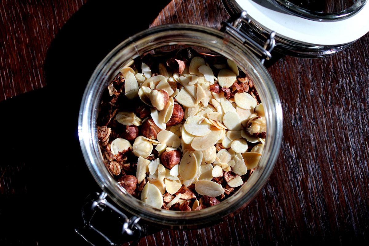 overnight oats kakao haselnüsse mandeln