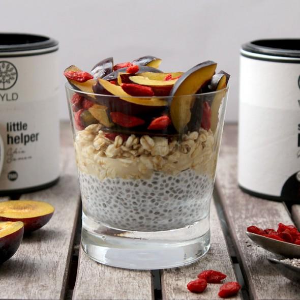overnight oats WYLD Gojibeeren und Chiapudding