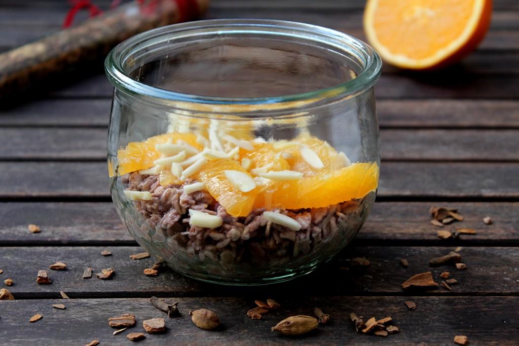 overnight oats Glühwein Orange